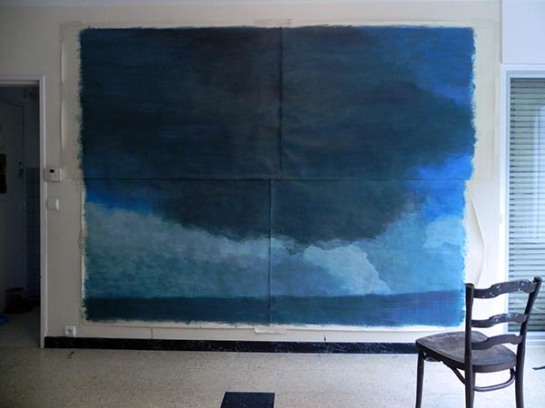 seascape in process / acrylique sur papier / 220X320 cm