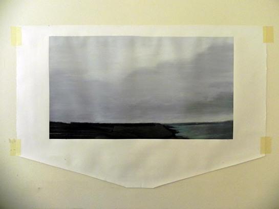 acrylique sur papier / 114X60 cm